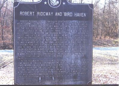 Bird Haven, Robert Ridgway Memorial Arboretum & Sanctuary